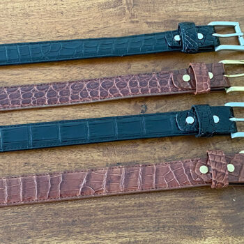 Crocodile Leather Bellyskin Belt (30mm)