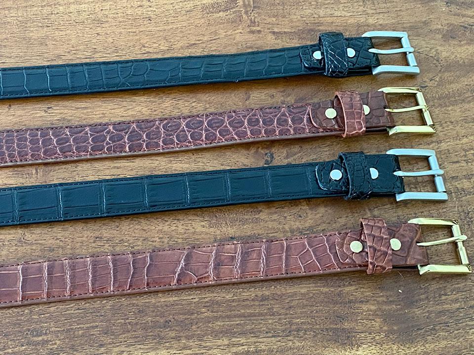 Crocodile Leather Bellyskin Belt (30mm)