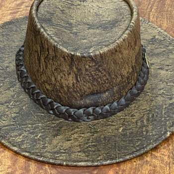 Stonewash Cowhide Leather Hat