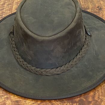 Full Grain Cattle Leather Hat - Foldaway Bronco