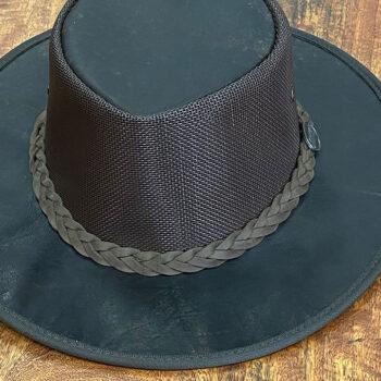 Kangaroo Leather Hat - Squashy Cooler - Hickory Stone