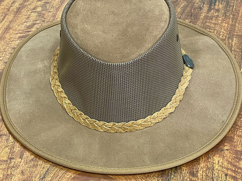 Cattle Suede Leather Hat