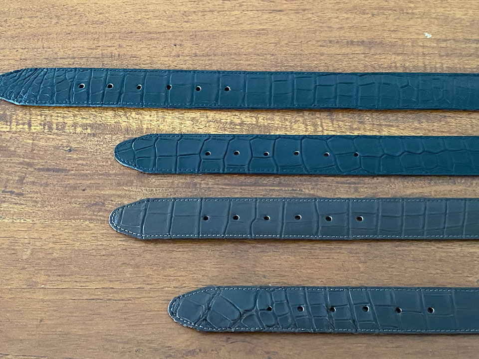 Best Crocodile Leather Bellyskin Belt