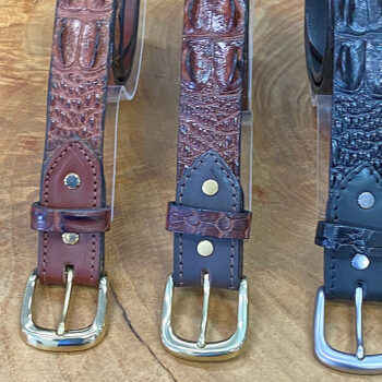 Crocodile Leather - Hornback Belt (35 mm)