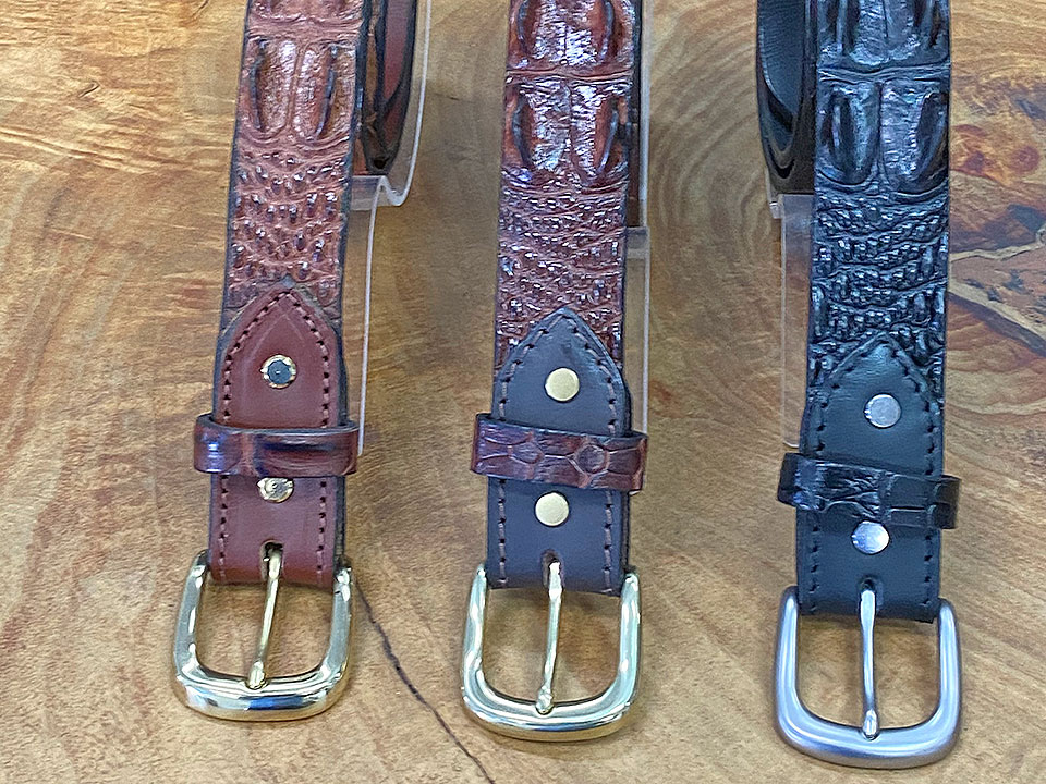 Crocodile Leather - Hornback Belt (35 mm)