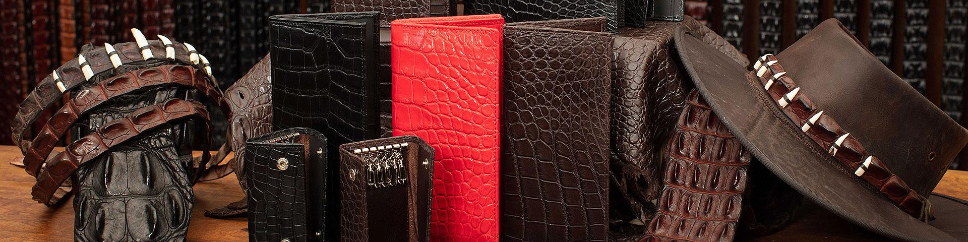 <span>Quality</span> <span>Crocodile Leather</span>