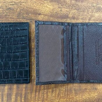 Crocodile Skin Card Holder / Travel Pass Holder