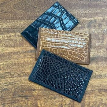 Crocodile skin card holder